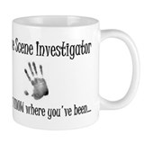 Crime Scene (handprint) Small Mugs