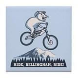 Ride, Bellingham, Ride! Tile Coaster