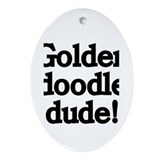 Goldendoodle Dude Ornament (Oval)