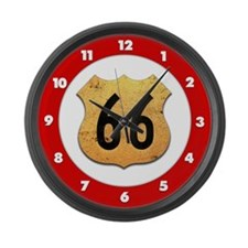 Vintage Route 66 Large Wall Clock