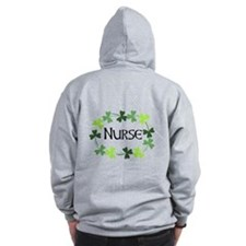 Nurse Shamrock Oval Zip Hoody