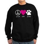 Peace Love Paws Sweatshirt (dark)