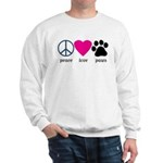 Peace Love Paws Sweatshirt