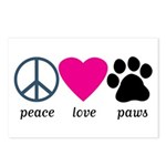 Peace Love Paws Postcards (Package of 8)