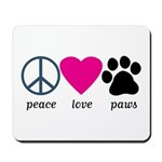 Peace Love Paws Mousepad