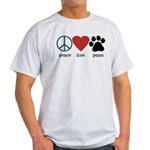 Peace Love Paws Light T-Shirt