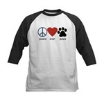 Peace Love Paws Kids Baseball Jersey