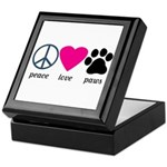 Peace Love Paws Keepsake Box