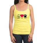 Peace Love Paws Jr. Spaghetti Tank