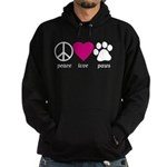 Peace Love Paws Hoodie (dark)