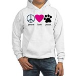 Peace Love Paws Hooded Sweatshirt