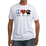 Peace Love Paws Fitted T-Shirt