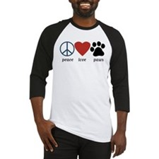 Peace Love Paws Baseball Jersey