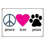 Peace Love Paws Banner