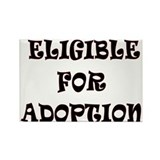 NOT ADOPTED Rectangle Magnet (100 pack)