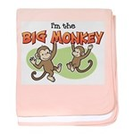 Big Sister - Monkey baby blanket