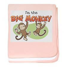 Big Sister - Monkey baby blanket