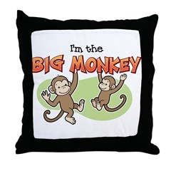 Big Sister - Monkey Throw Pillow