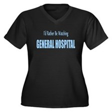General Hospital Women's Plus Size V-Neck Dark T-S