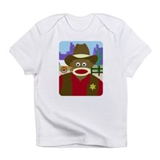 Sock Monkey Cowboy Infant T-Shirt