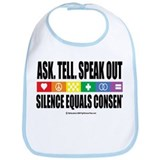 Ask, Tell, Speak Out! Bib