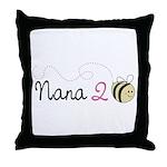 Nana to Bee Throw Pillow