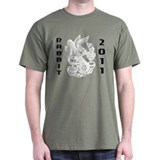 Chinese Paper Cut Rabbit 2011 T-Shirt