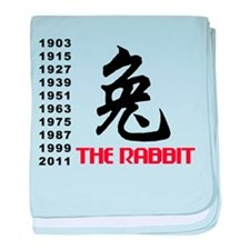 Chinese Symbol Year of The Rabbit baby blanket
