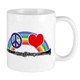 Peace Love Clarinet Small Mug