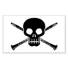 Clarinet Skull Decal