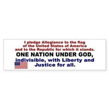 I Pledge Allegiance to the Flag Bumper Sticker