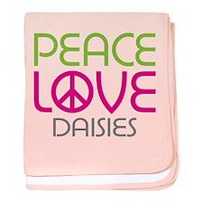Peace Love Daisies baby blanket