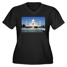 Cute Taj Women's Plus Size V-Neck Dark T-Shirt