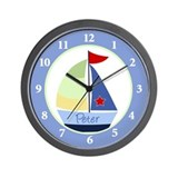 Sailboat Nautical Wall Clock - Peter