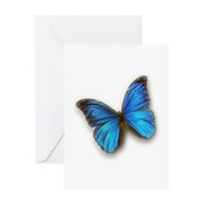 Blue Morpho Greeting Card