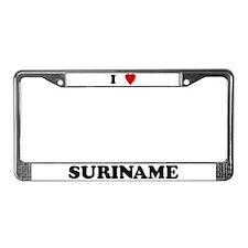 I Love Suriname License Plate Frame