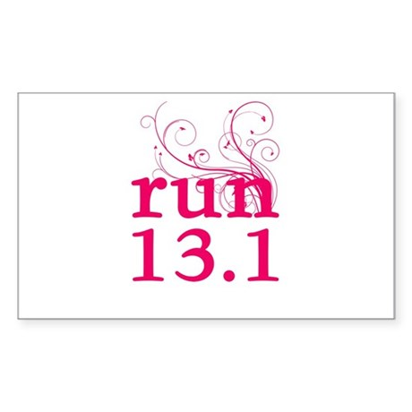 run 13.1 Sticker (Rectangle)
