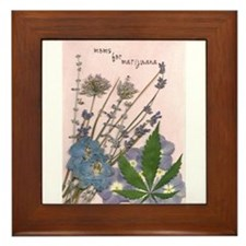 Cool Medical marijuana Framed Tile