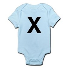 X Helvetica Alphabet Infant Bodysuit