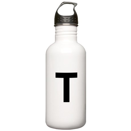 T Helvetica Alphabet Stainless Water Bottle 1.0L