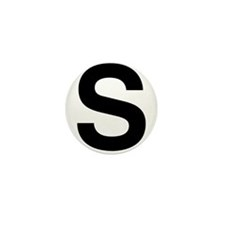 S Helvetica Alphabet Mini Button (100 pack)