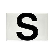 S Helvetica Alphabet Rectangle Magnet