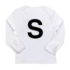 S Helvetica Alphabet Long Sleeve Infant T-Shirt