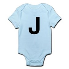 J Helvetica Alphabet Infant Bodysuit