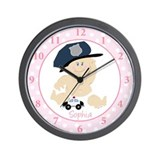 Baby Cop Police Officer Wall Clock - Sophia