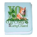 My Corgi is Me Lucky Charm baby blanket