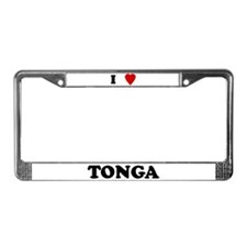 I Love Tonga License Plate Frame