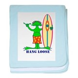Hang Loose Frog baby blanket