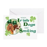 St. Patrick Irish Setters Greeting Card