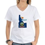 ILY Idaho Women's V-Neck T-Shirt